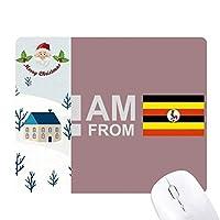私はウガンダから サンタクロース家屋ゴムのマウスパッド