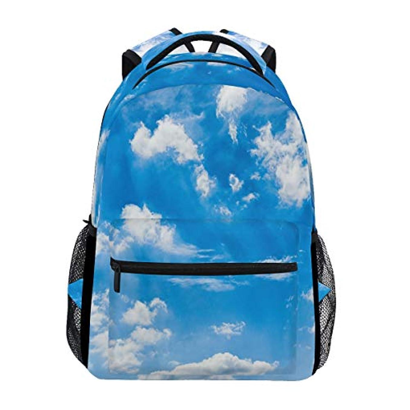 晩ごはん繕うアパートAnmumi リュックサック 学生 リュック 高校生 レディース バックパック 子供 青空 雲 大容量 通学 通勤リュック メンズ デイパック おしゃれ 人気 軽量 かわいい