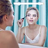 LED Mirror Light, Portable Vanity Light | Simulated Daylight | 4 Brightness Level Touch Control | Rechargeable Cosmetic Lamp, Bathroom Lighting Kit,Wireless Makeup Light