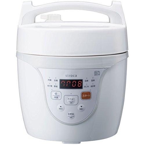 シロカ マイコン電気圧力鍋 クックマイスター ホワイト SPC...
