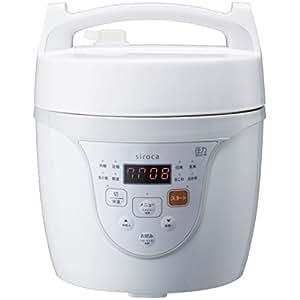 シロカ マイコン電気圧力鍋 クックマイスター ホワイト SPC-101WH