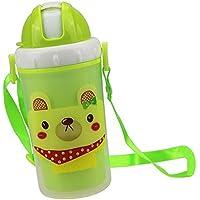 Baoblaze ストローカップ ベビー キッズ ウォーターボトル 水筒  マグボトル 便利 全3色 - グリーンドッグ