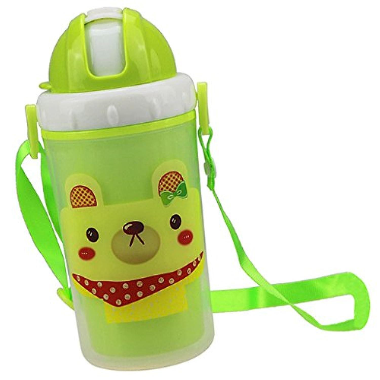B Baosity ストローカップ 子供用 ウォーターボトル 水筒  マグボトル 全3色 - グリーンドッグ