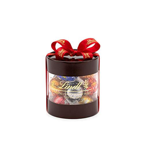 リンツ (Lindt) チョコレート リンドール ギフトボックス 個包装 6種 12個入り ショッピングバッグS付