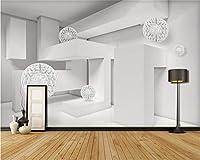 Weaeo カスタムフォト壁画壁画幾何学ボール現代建築壁紙カフェレストラン3D壁紙-450X300Cm