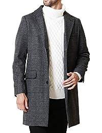 JIGGYS SHOP ステンカラーコート メンズ チェスターコート ロングコート ビジネス 厚手 秋冬 アウター ジャケット