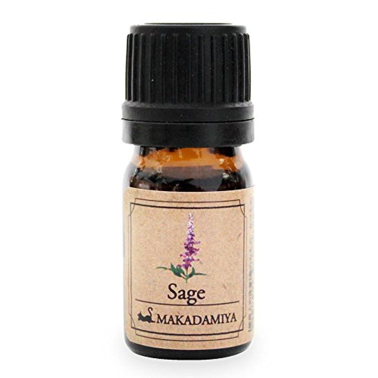 馬鹿げた残る木材セージ5ml 天然100%植物性 エッセンシャルオイル(精油) アロマオイル アロママッサージ aroma Sage