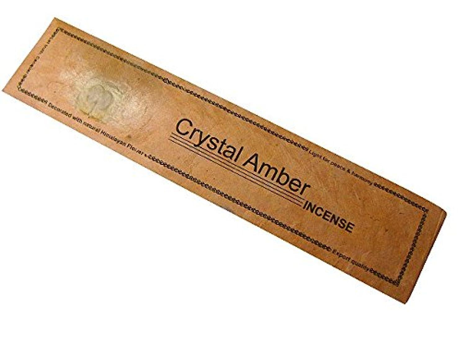 担当者しばしば把握NEPAL INCENSE ネパールのロクタ紙にヒマラヤの押し花のお香【CrystalAmberクリスタルアンバー】 スティック