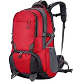 RMXMY Fashion Casual Nylon Lightweight Backpack Travel Backpack Large Capacity Personality Creative Simple Hiking Waterproof Scratch-Resistant Practical Backpack (Color : RED)