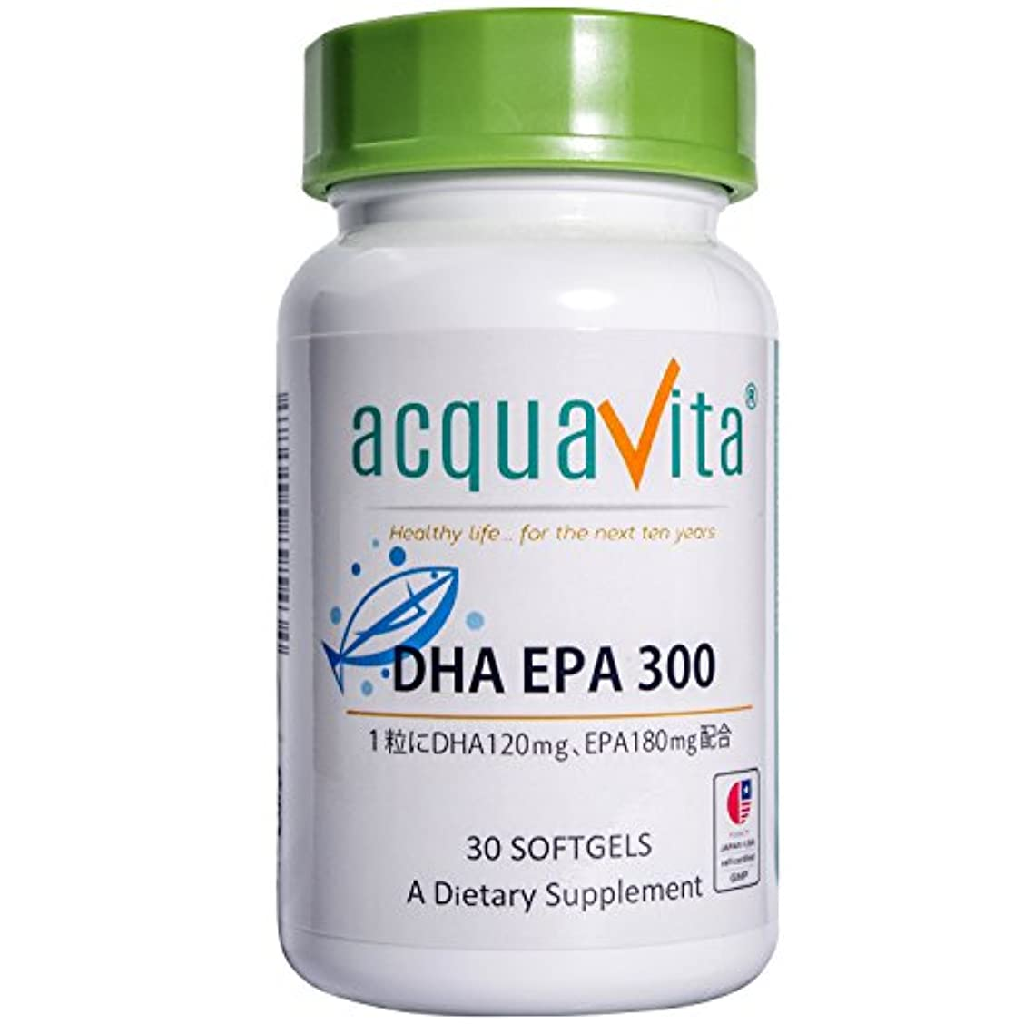 擬人裕福なベッドを作るacquavita(アクアヴィータ)DHA EPA300 30粒