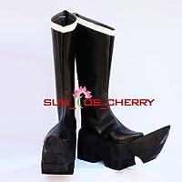 【サイズ選択可】コスプレ靴 ブーツ K-260 ブラックゴールドソー 女性24.5CM