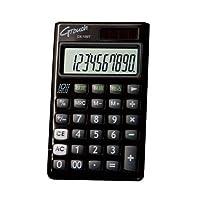 GENTOS(ジェントス) G-Touch 10桁表示 風水カラーデザイン電卓(手帳サイズタイプ) ブラック DX-150TBK