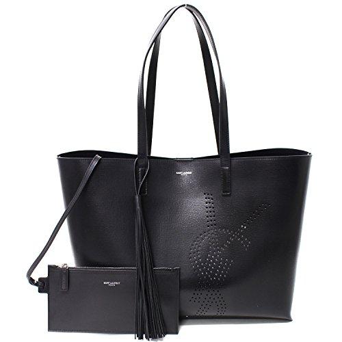 (サンローラン)SAINT LAURENTショッピング トートバッグ【BLACK】509233 0JB1E 1000 [並行輸入品]