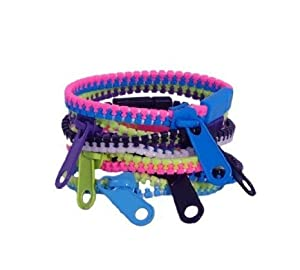 WeGlow International Zippy Bracelet, Two-Tone Assorted, 12-Piece by WeGlow International TOY ドール 人形 フィギュア(並行輸入)