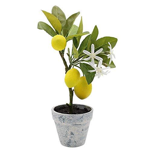 フェイクグリーン 光触媒 癒しの人工観葉植物 Xiaz インテリア装飾の造花レモンツリー