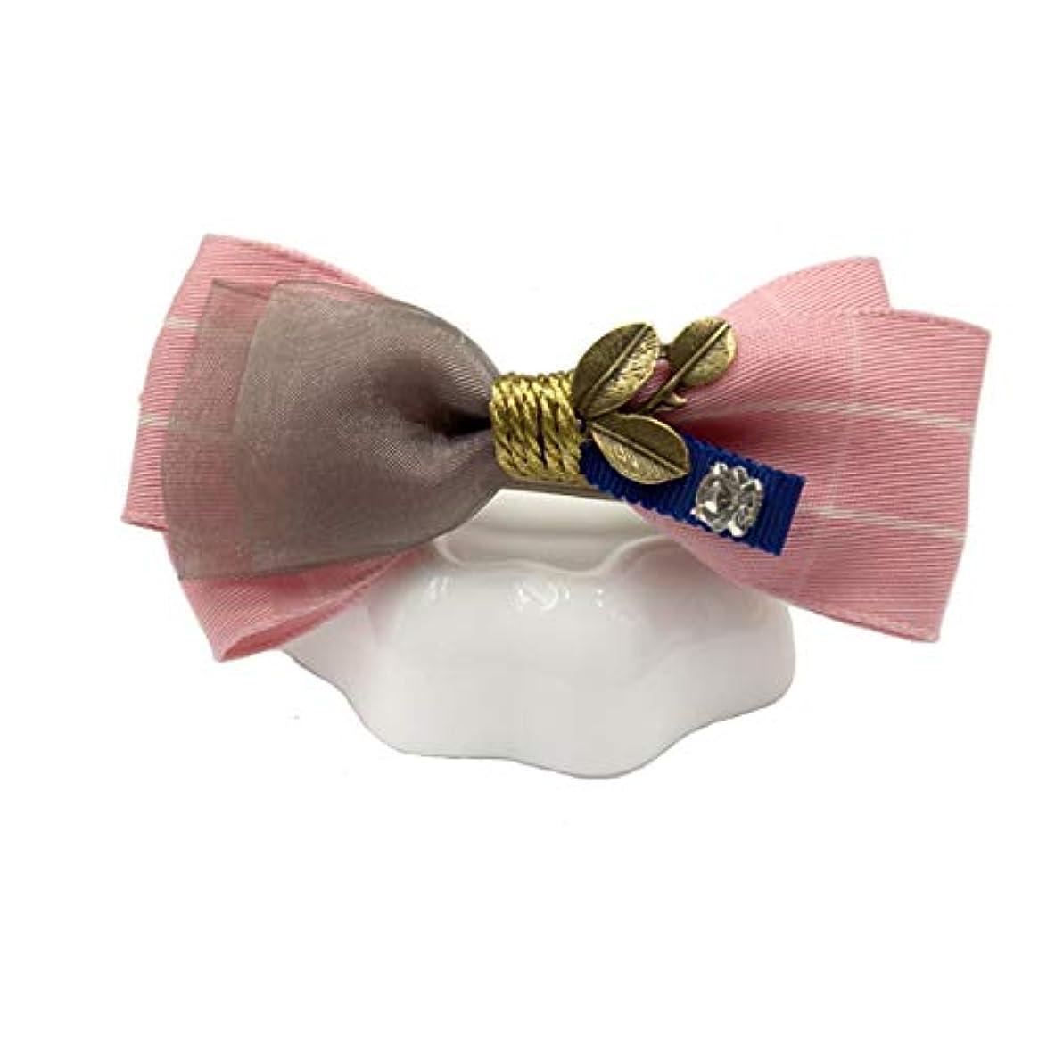素晴らしきストライク湿ったヘアピン、ヘアピン、ヘアクリップ、ヘアクリップ、ヘアピンメスシンプルボウヘアピンワードポニーテール水平クリップメスの春クリップマザートップクリップヘアピンのスプリングクリップ、ピンク、ブルー、レッド (Color : Pink)