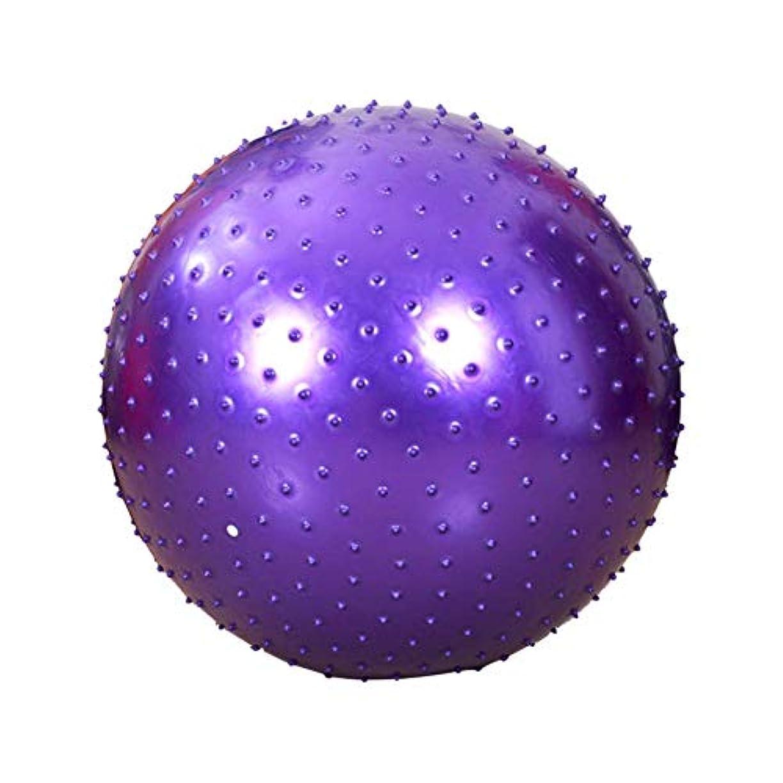 通り快適シンポジウムJikansakari ヨガボール マッサージボール ストレッチボール 触覚ボール 肩 背中 腰 お尻 足裏 首 筋膜リリース 自宅用 オフィス用 紫