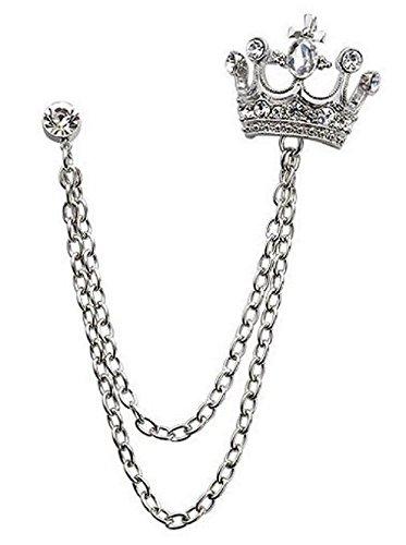 [해외]IPPITEM 영국식 레이블 핀 체인 브로치 남성 정장 액세서리 탓쿠삔/IPPITEM British style label pin chain brooch men`s suit accessory tack pin