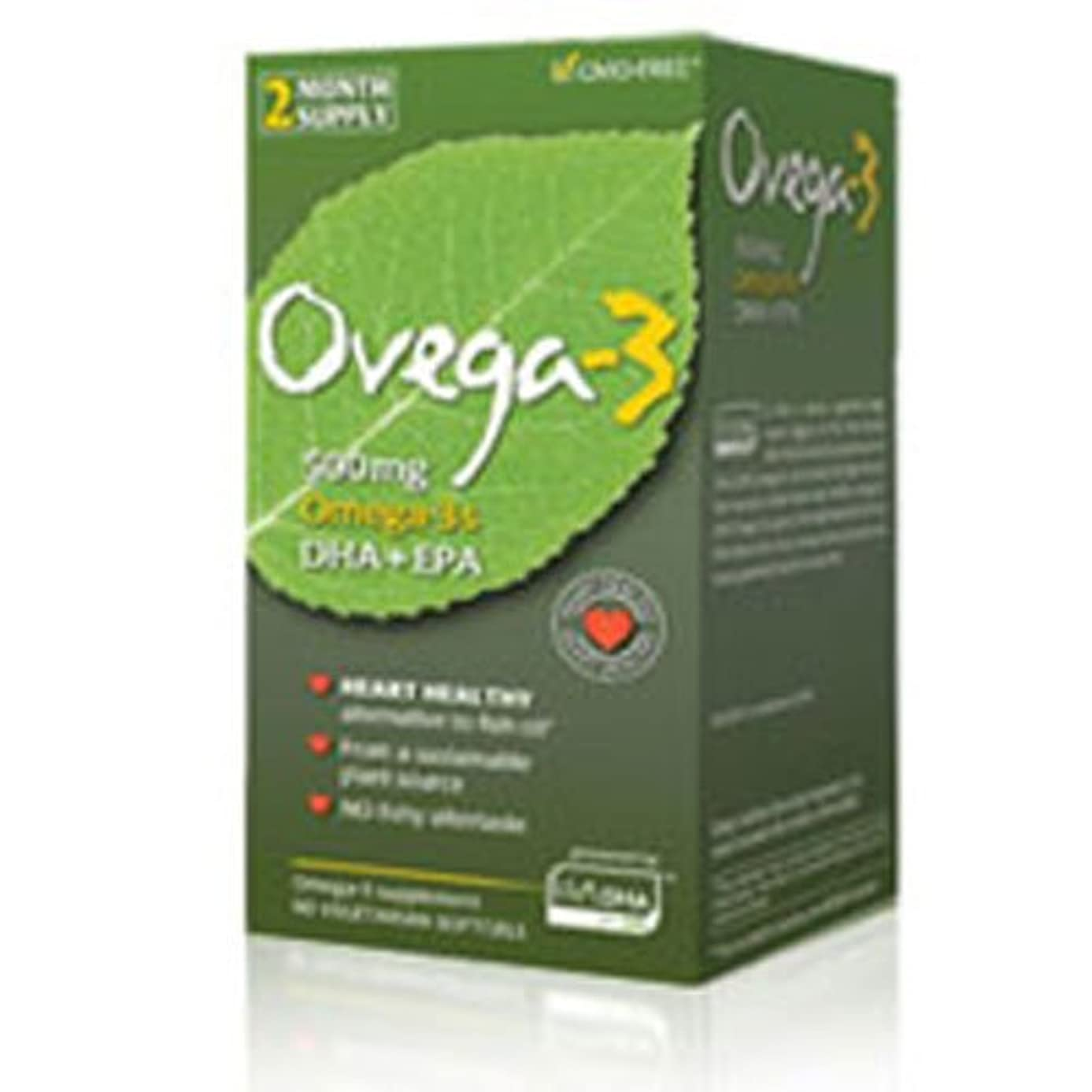から聞くほこりバーベキュー海外直送品Amerifit Nutrition Ovega-3 DHA EPA Vegetarian, 60 Softgels (Pack of 4)