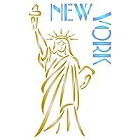 ステンシルの壁–新しいYorkステンシル–再利用可能なアメリカ自由の女神City用ステンシルをペイント–使用on Paperプロジェクト壁床ファブリック家具ガラス木製etc。 S