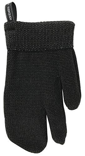 サンベルム(Sanbelm) タワシ ブラック 約12×21cm ビストロ先生 和歌山生まれの手袋たわし 日本製