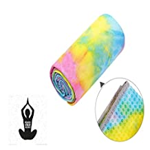 A-code Yoga Towe, Non Slip Hot Yoga Towel Soft Sweat Absorbent, Ideal for Yoga, Bikram, Pilates and Workout