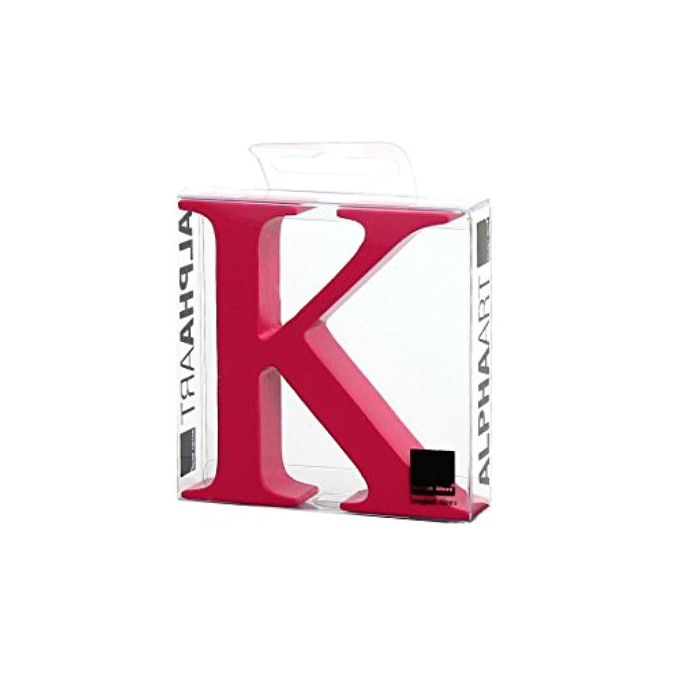 ヒロイック木神社カメヤマキャンドルハウス アルファベットブロック カラフル  アルファアートラージK 「 ピンク 」