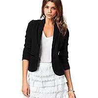 SZIVYSHI Fashion Long Sleeve Button Front Colorblock Contrast Piping Trim Cotton Blazer Coat Jacket Top