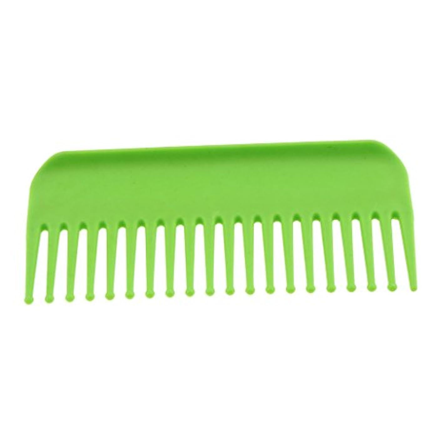 れるミリメートル冗長サロンヘアケア脱毛ヘアコームヘアブラシスタティックワイド - 緑