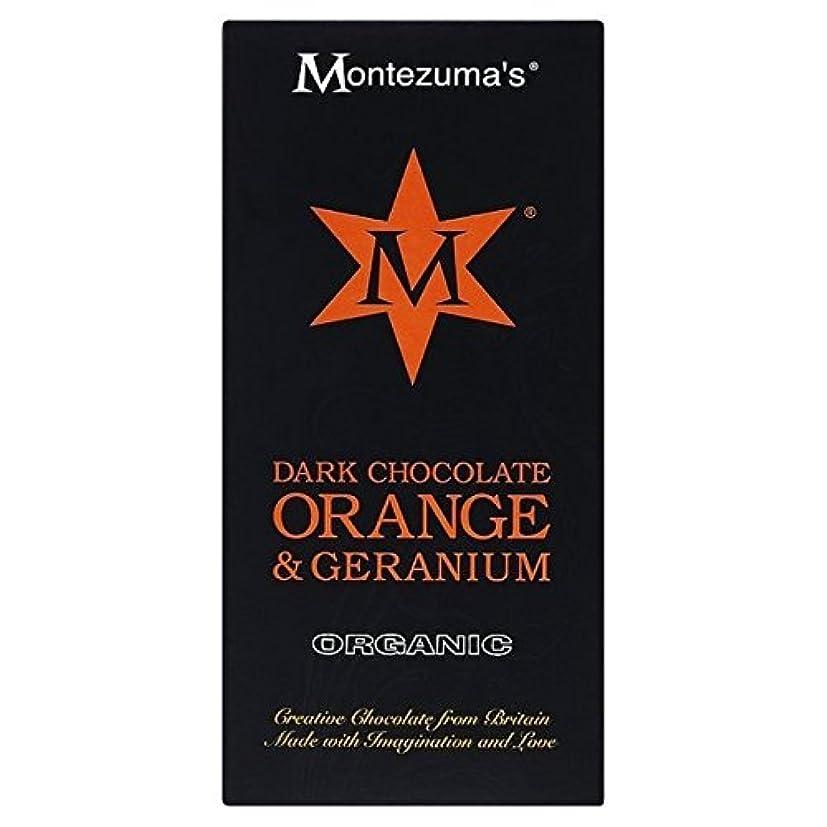 一般的に換気順応性のあるオレンジ&ゼラニウムバー100グラムとMotezumaの暗いです (x 2) - Motezuma's Dark with Orange & Geranium Bar 100g (Pack of 2) [並行輸入品]