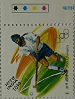 27th Olympics Hockey Event Rs.10 Single Indian Stamp Traffic Light