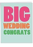 Big結婚おめでとうございますウェディングユーモアカード 1 Jumbo Wedding Card & Enve. (J2727WDG)