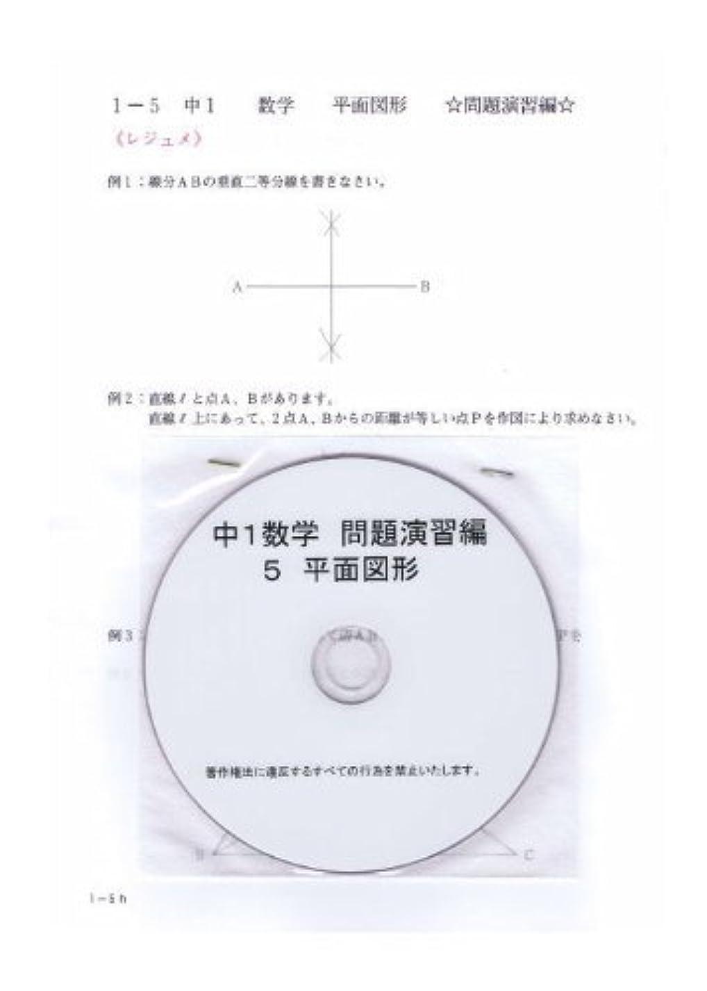加速度コンテスト大学中学 数学 1年 【応用】 5 平面図形 DVD (授業+テキスト+問題集)