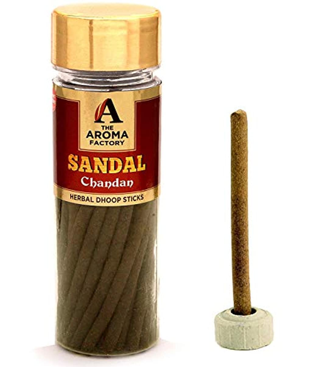 健康つかむメトロポリタンThe Aroma Factory Chandan Sandal Woods Dhoop Batti [Free Stand] (Bottle Pack x 40 Sticks)