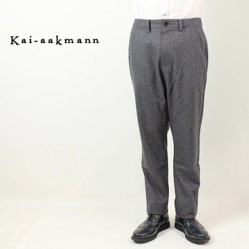チャコールグレー(C06) 30 Kai-aakmann カイアークマン メンズ サルエル ウールパンツ K138-575(チャコールグレー)
