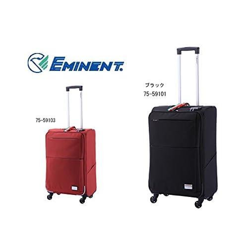 エミネント スーツケース キャリーバッグ 46L 75-59101 ブラック M 代引き不可 バッグ スーツケース mirai1-291949-ak [並行輸入品] [簡易パッケージ品]