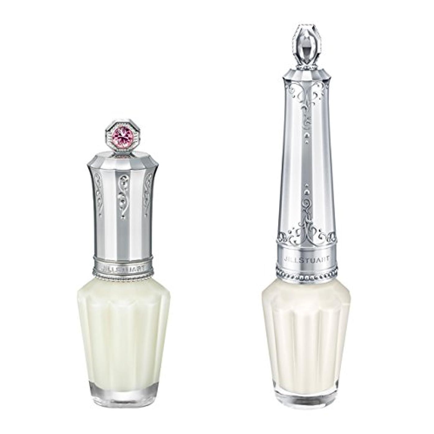 スピーカー船員吸うジルスチュアート シースルーデコレーション ネイルズ #01 See-through Dress White