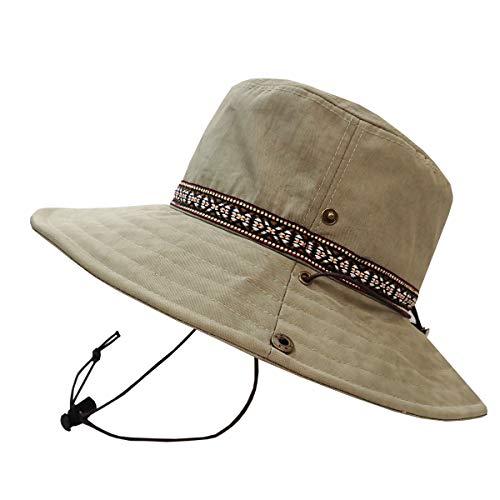 SUNS(サンズ)アドベンチャーハット サファリハット レインハット 帽子 ハット 登山 撥水 防水 メンズ レディース サイズ調整 UVカット アウトドア カラフル あご紐 H-053 (BEIGE)
