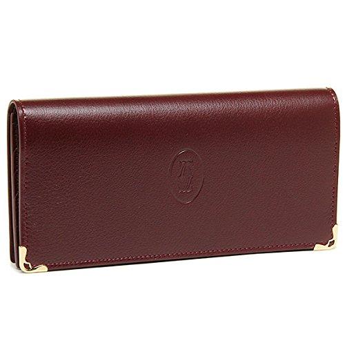 Cartier 【カルティエ】 L3001362 ボルドー 長財布 小銭入れ付 MUST