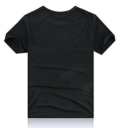 メンズTシャツ おしゃれ面白い3Dプリント (XXL, ブラック)