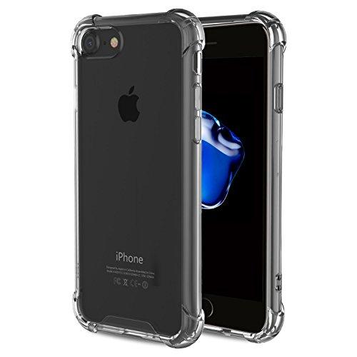 iPhone7 ケース ハイブリッド クリスタル 透明 クリアケース 衝撃吸収コーナーエアクッション リアガード アイフォン7 4.7インチ カバー I7-HYB-01-BK