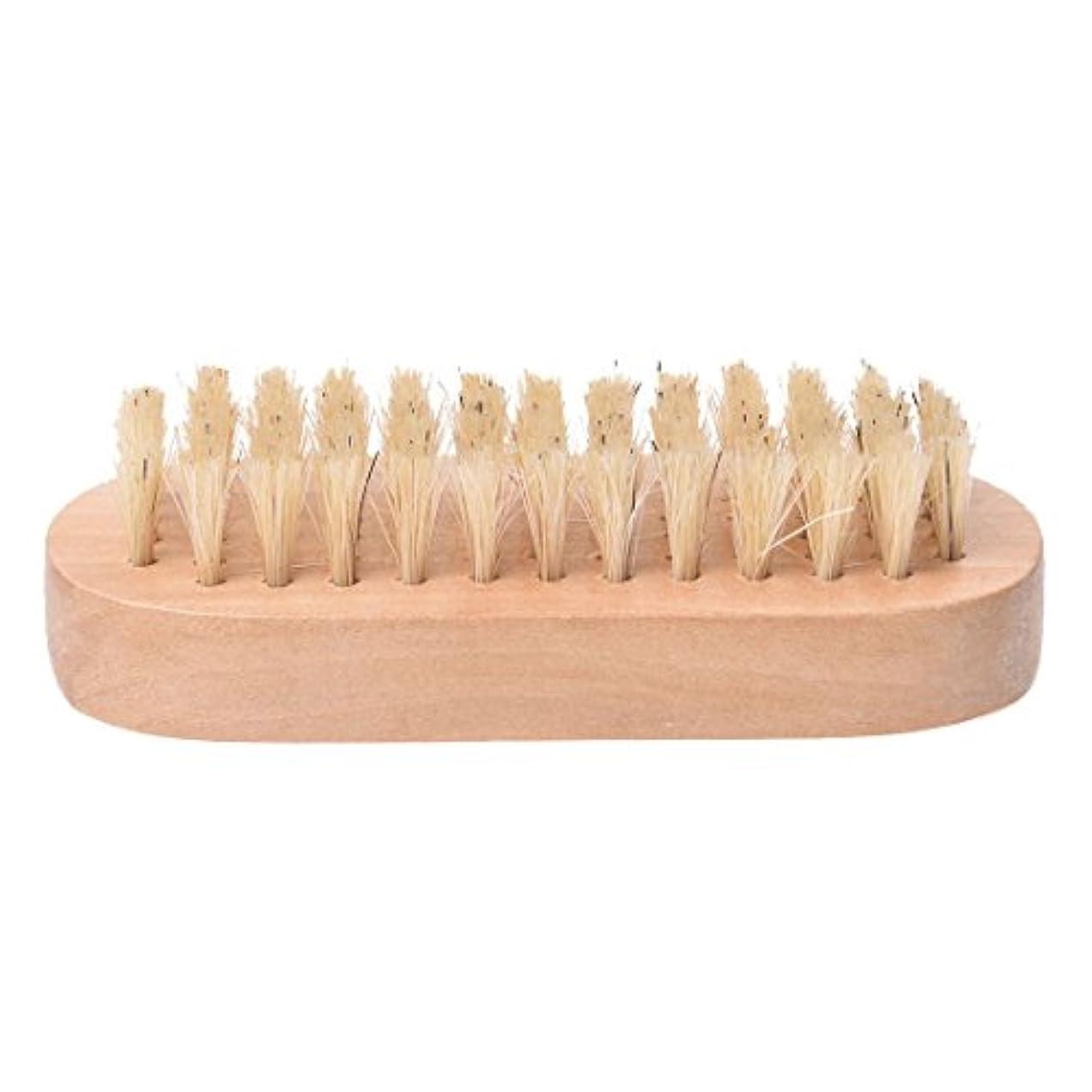 ぶら下がる可決事実上Cikuso 木製ハンドル ブリストル爪手足ブラシ マニキュア