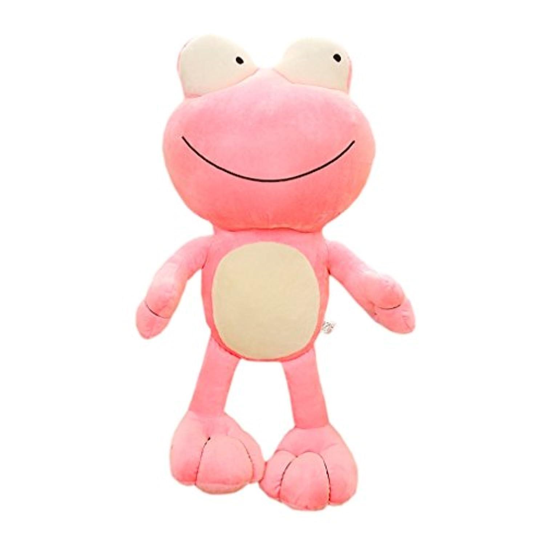カエル ぬいぐるみ 大きい目 可愛い 動物 抱き枕 触り心地いい 癒し顔 ふわふわ もちもち リアル キュート プレゼント 贈り物 子供へ お祝い/誕生日/バレンタインデー/ホワイトデー ピンク
