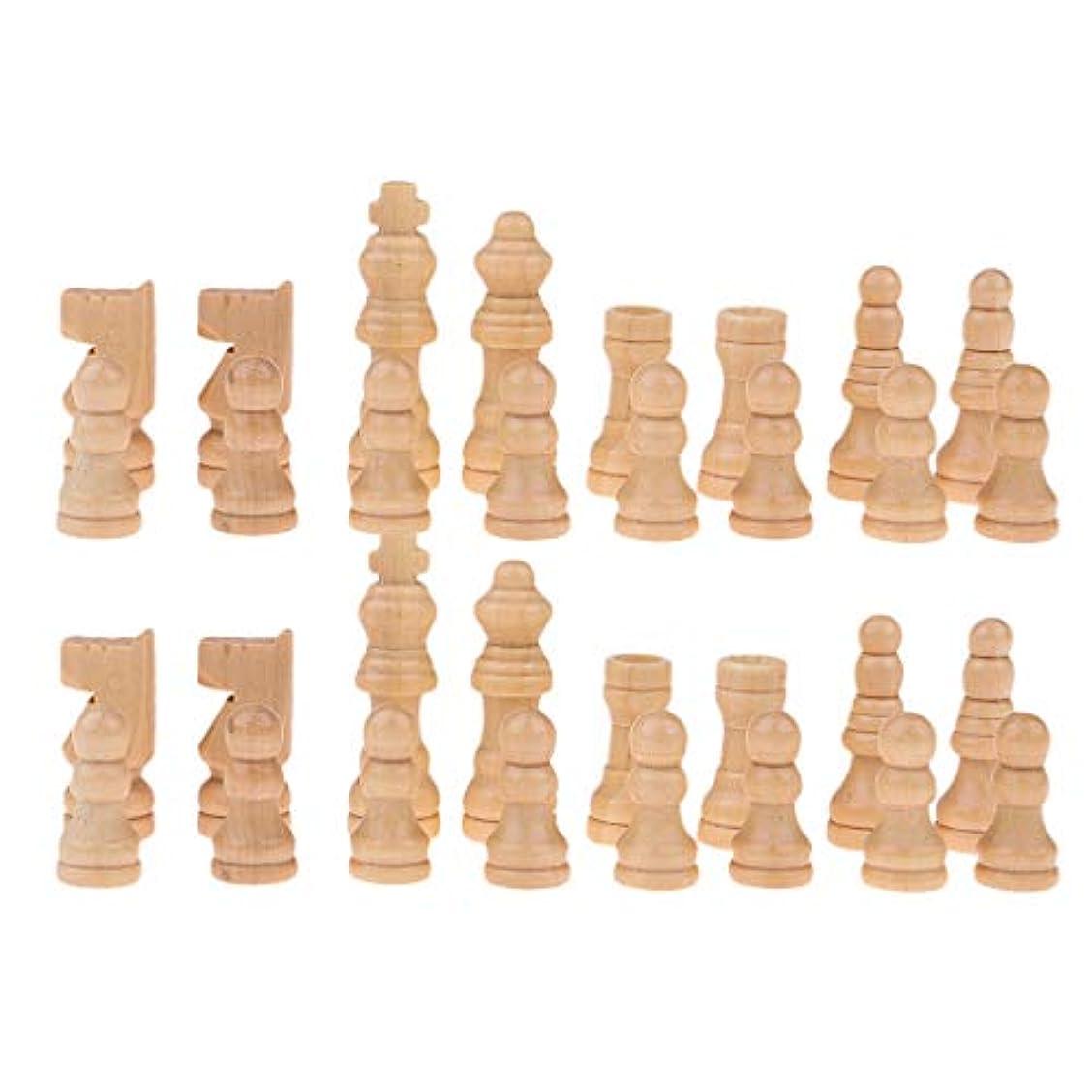 姪おなかがすいた含意sharprepublic 約32個 木製 チェスマン 国際チェス用 チェスセット チェス駒 ウッド色