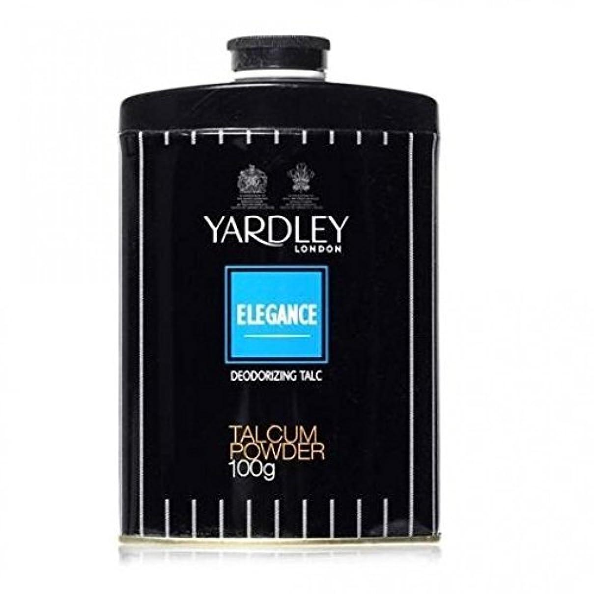 こどもの宮殿放つ激怒Yardley Elegance Deodorizing Talc, 250g by Yardley [並行輸入品]