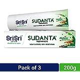 Sri Sri Tattva Sudanta Toothpaste, 600gm (200gm x Pack of 3)
