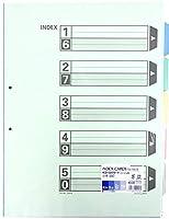 (まとめ買い)コクヨ カラー仕切カード ファイル用 A3 5山 2穴 10組 シキ-90 【×3】