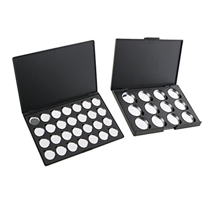 バドミントンスキップ抽象化Baosity 2個 空パレット 磁気パレット アイシャドウ パウダー ブラッシュ 化粧品 DIY メイクケース ブラック