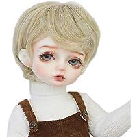 Linfairy 7-8 inch 1/4 ドール用 ウィッグ フィギュア 人形用 短いブロンド