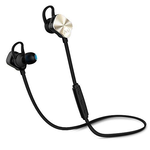 Mpow Wolverine Bluetooth 4.1スポーツヘッドセット ワイヤレスステレオヘッドセット ノイズ低減の仕組み iPhone&Android スマートフォンに対応(ゴールド)